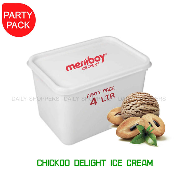 Meriiboy Party Pack Chickoo - 4 Ltr