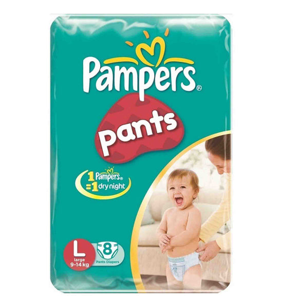 Pampers Baby Dry Pants L-8