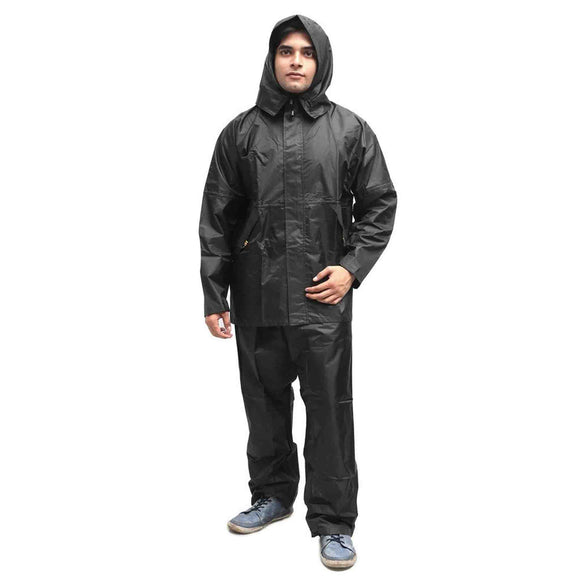 Duckback Men's Polyester Solid Rain Suit