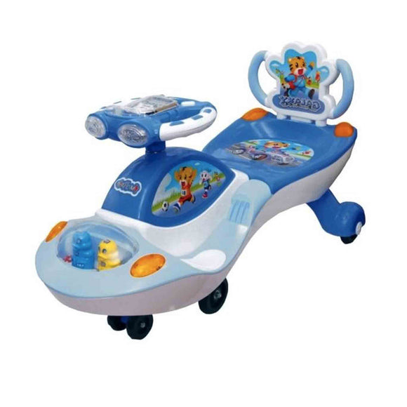 Blue - Ehomekart Funride Galaxy Musical with LED Lights Twist and Swing Magic Car