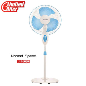 USHA Mist AIR DUOS Pedestal Fan (Blue)