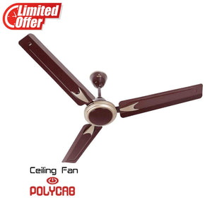 Polycab Annular DLX 1200mm Ceiling Fan (Luster Brown Copper Bronze)