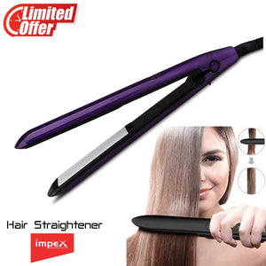 Impex HS-302 Professional Hair Straightener With Ceramic Coating Plate & Lock Function (Violet & Black)