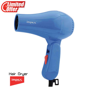 Impex HD-1K2 Foldable Handle Hair Dryer With 2 Speed/Heat Function (600 Watts,Violet)