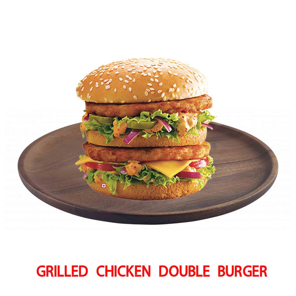 Grilled Chicken Double Decker Burger