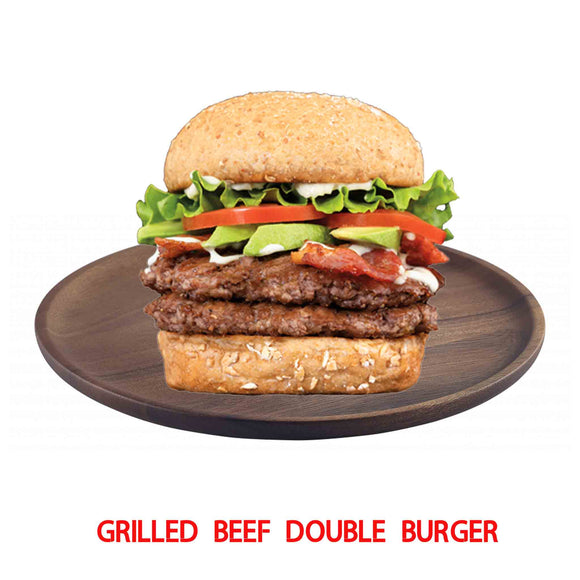 Grilled Beef Double Decker Burger