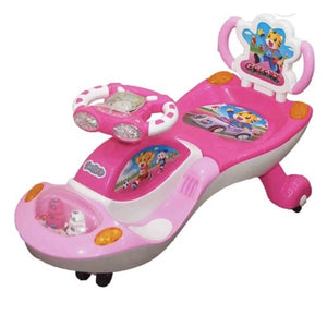Pink - Ehomekart Funride Galaxy Musical with LED Lights Twist and Swing Magic Car