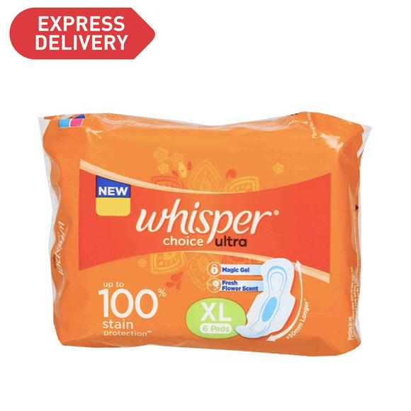 Whisper Choice Ultra XL Wings 6 Pads