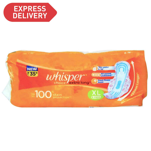 Whisper Choice Extra Long 7pads