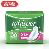 Whisper Ultra Sanitary Pads XL Plus wings
