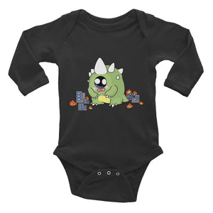 CuteZilla Long Sleeve Onesie
