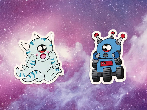 Squiblu & Blubot Sticker