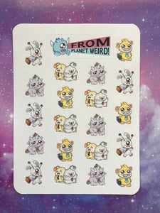 Work Monsters Sticker Sheet