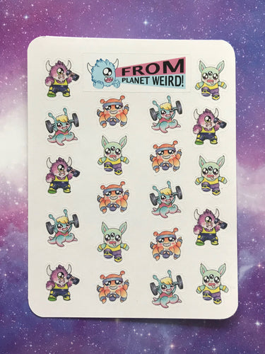 Work Out Sticker Sheet