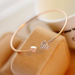 Gold Heart Bangle