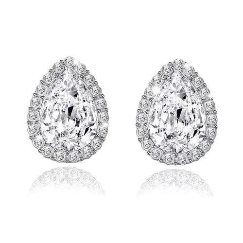 Pear Shape Crystal Stud Earrings
