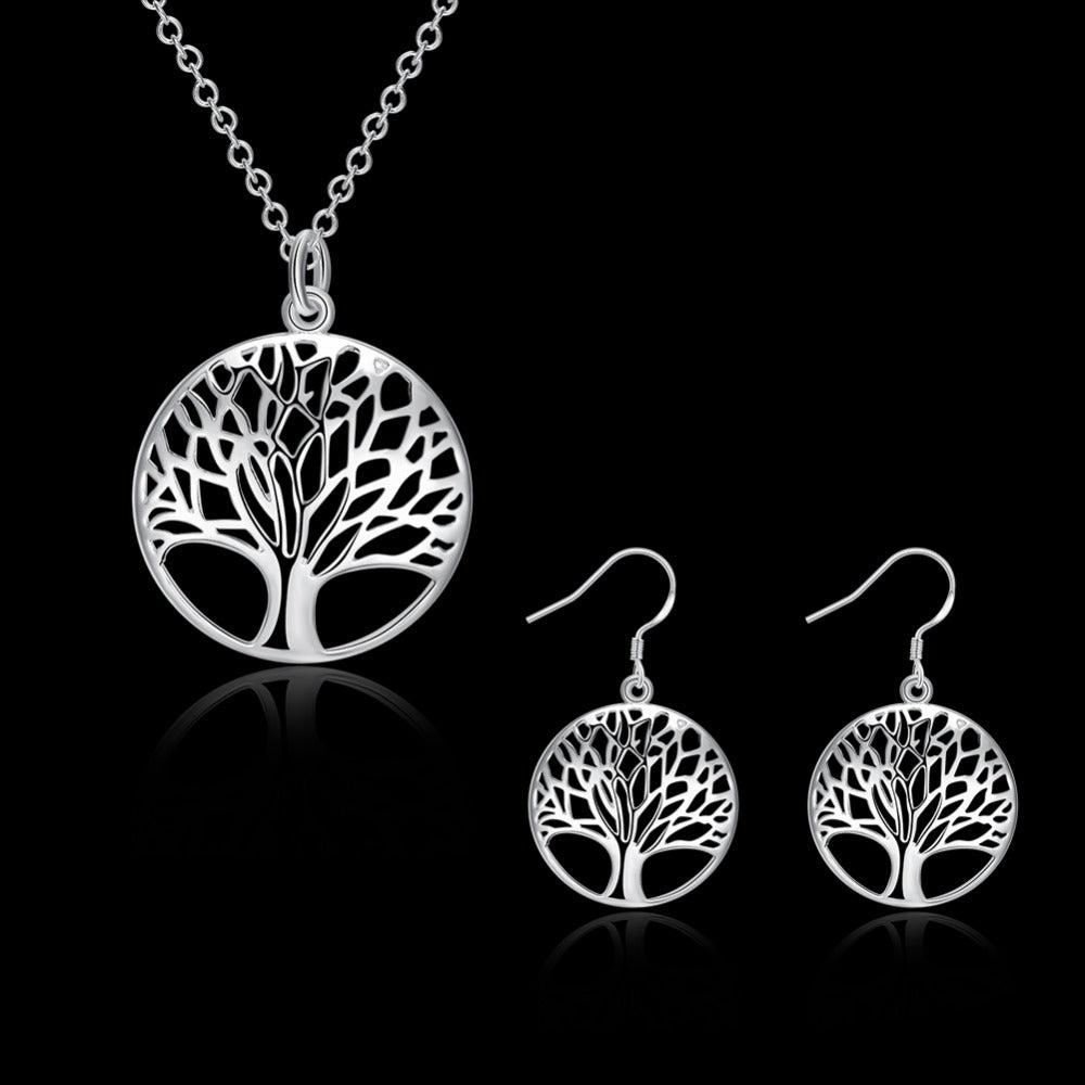 Family Tree Necklace & Earring Set