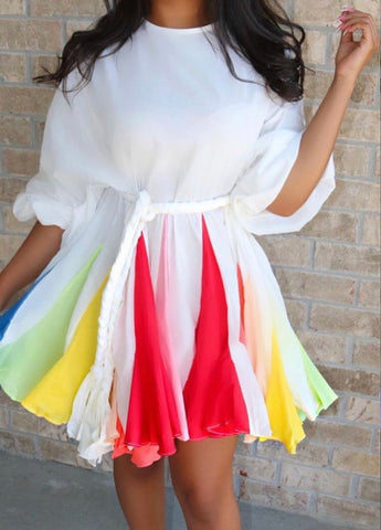 Rainbow Flare | Mini Dress