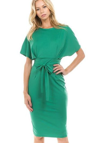 Working Girl | Kelly Green Dress (Arrives 1st week of Feb.)