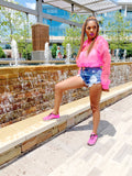 Hot Pink Sporty Chic | Bomber Top