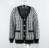 Houndstooth Lover | Sweater Cardigan