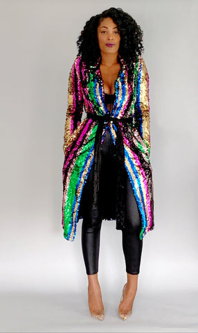 Lookin' Like Money | Sequin Coat