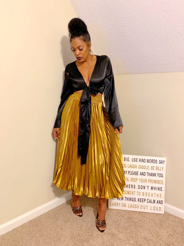 Golden Pleats | Skirt