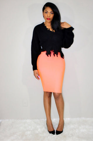Peachy Keen | Bodycon Skirt