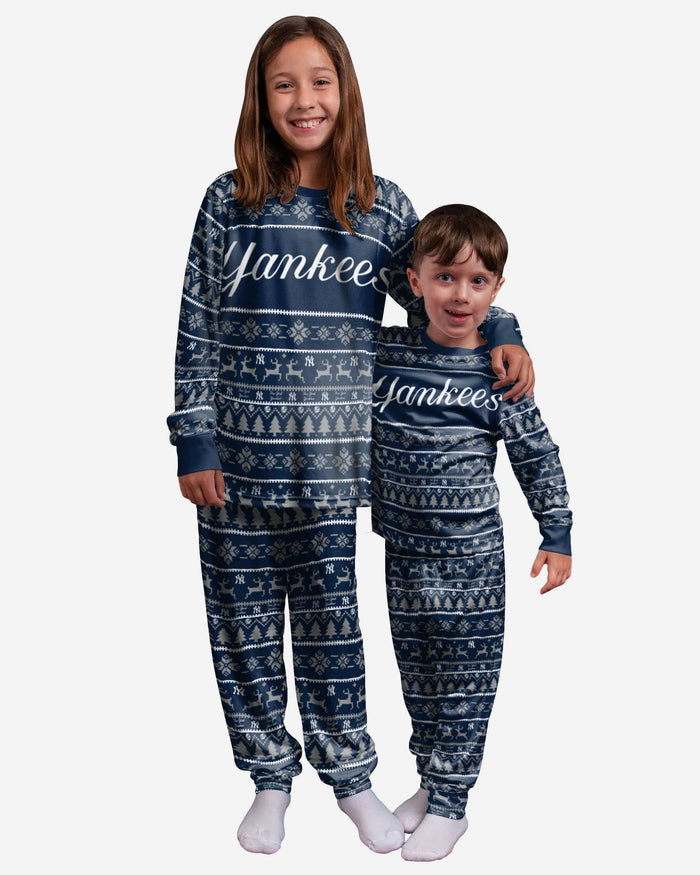 New York Yankees Youth Family Holiday Pajamas FOCO - FOCO.com
