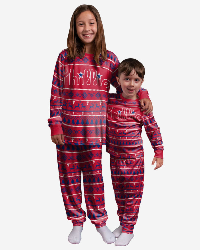 Philadelphia Phillies Youth Family Holiday Pajamas FOCO - FOCO.com