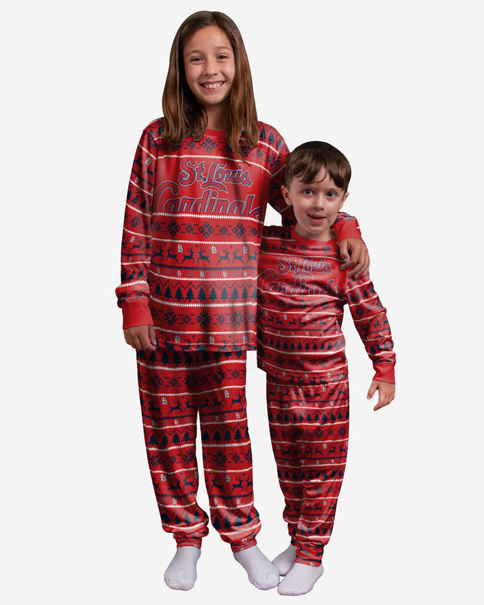St Louis Cardinals Youth Family Holiday Pajamas FOCO - FOCO.com