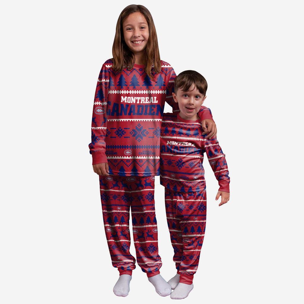 Montreal Canadiens Youth Family Holiday Pajamas FOCO 4 - FOCO.com