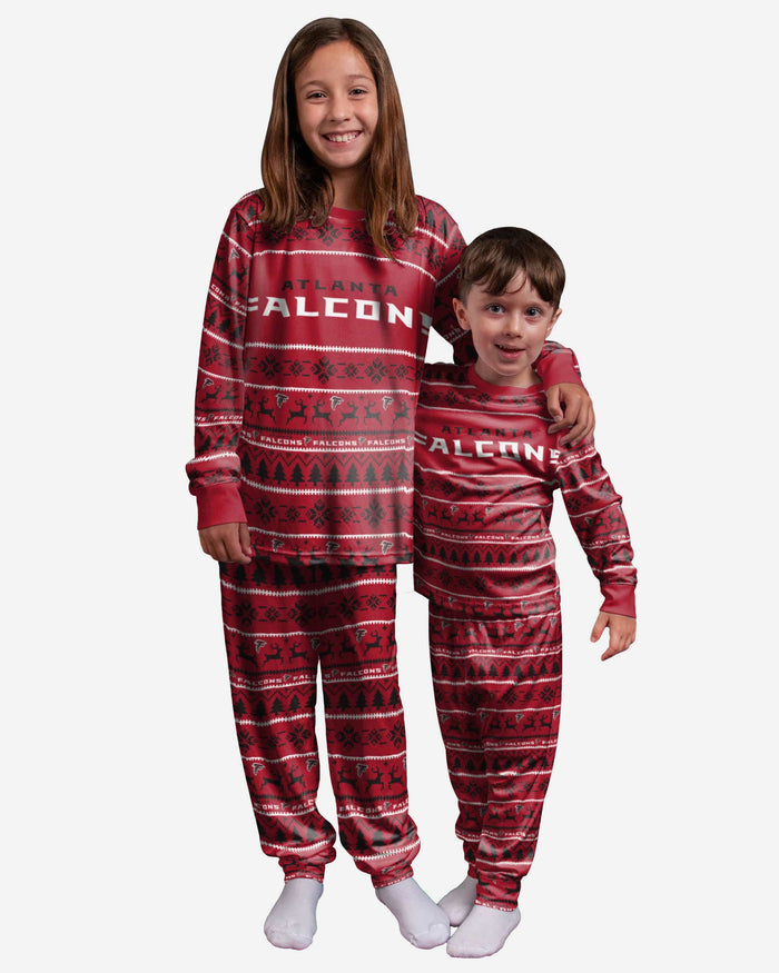 Atlanta Falcons Youth Family Holiday Pajamas FOCO 4 - FOCO.com