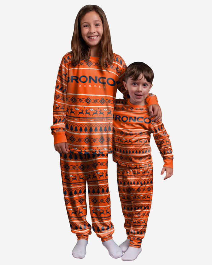 Denver Broncos Youth Family Holiday Pajamas FOCO 4 - FOCO.com