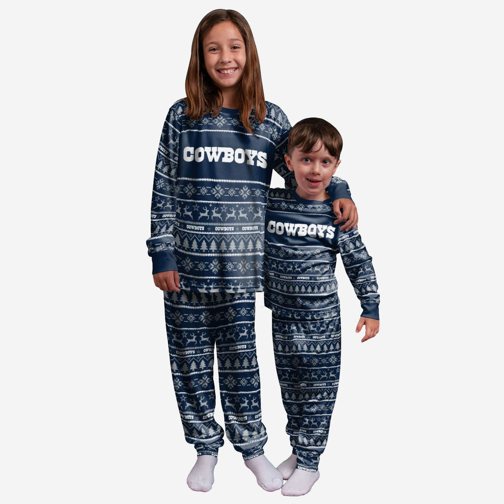 Dallas Cowboys Youth Family Holiday Pajamas FOCO 4 - FOCO.com