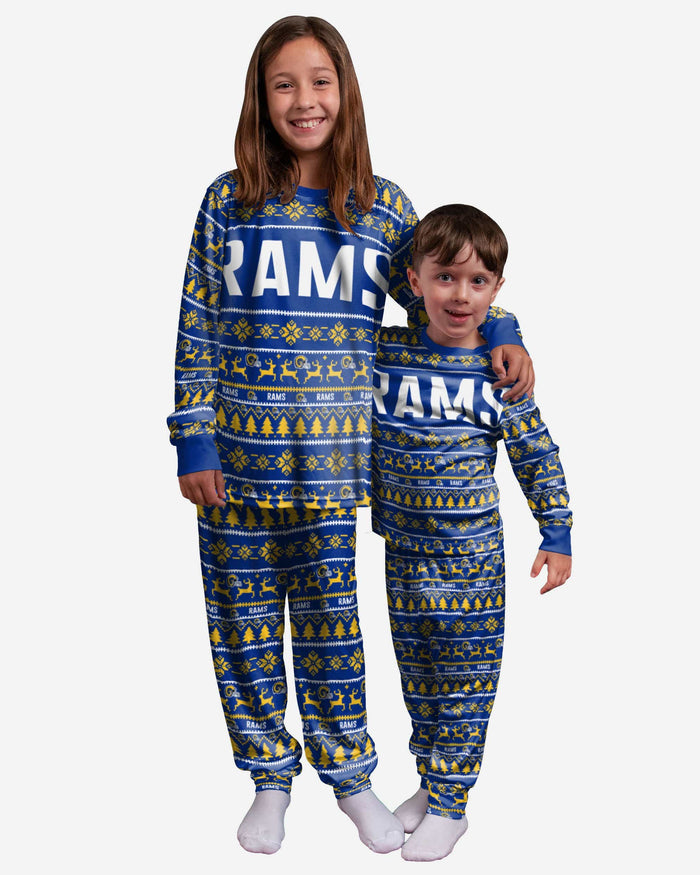 Los Angeles Rams Youth Family Holiday Pajamas FOCO 4 - FOCO.com