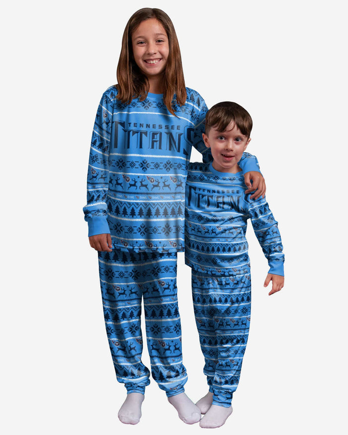 Tennessee Titans Youth Family Holiday Pajamas FOCO 8 (S) - FOCO.com