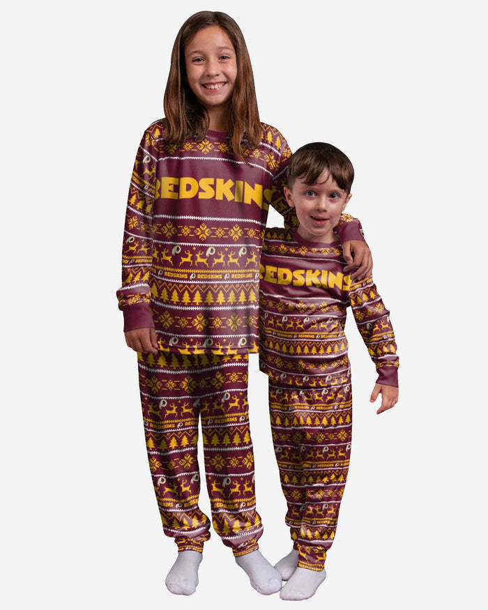 Washington Redskins Youth Family Holiday Pajamas FOCO 4 - FOCO.com