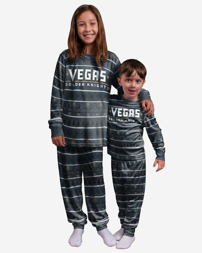 Vegas Golden Knights Youth Family Holiday Pajamas FOCO - FOCO.com