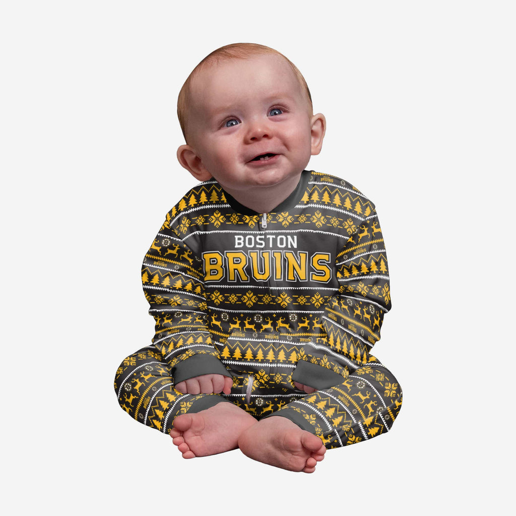 Boston Bruins Infant Family Holiday Pajamas FOCO 12 mo - FOCO.com