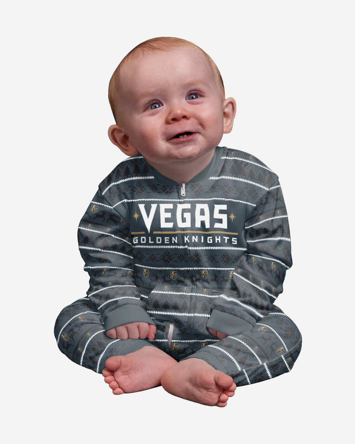 Vegas Golden Knights Infant Family Holiday Pajamas FOCO 12 mo - FOCO.com
