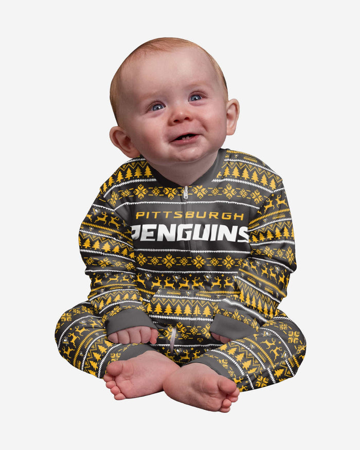 Pittsburgh Penguins Infant Family Holiday Pajamas FOCO 12 mo - FOCO.com