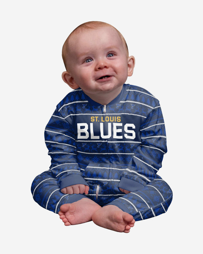 St Louis Blues Infant Family Holiday Pajamas FOCO 12 mo - FOCO.com