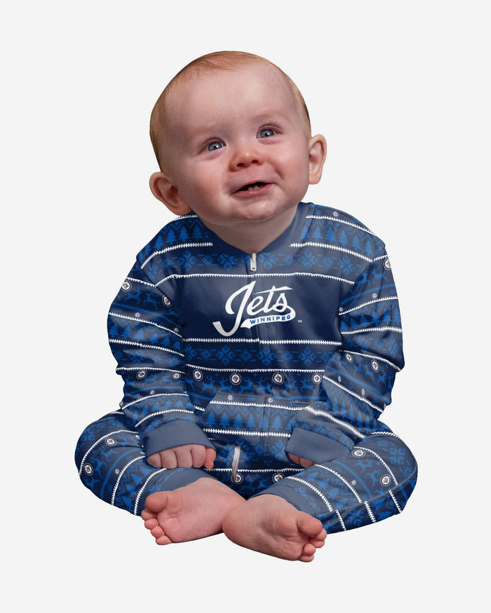 Winnipeg Jets Infant Family Holiday Pajamas FOCO 12 mo - FOCO.com