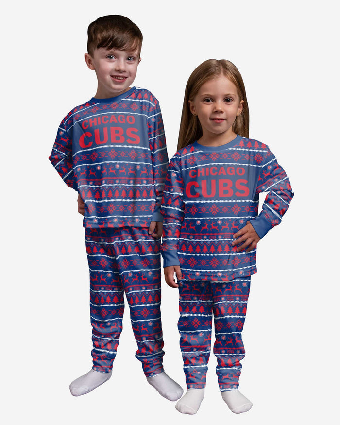 Chicago Cubs Toddler Family Holiday Pajamas FOCO 2T - FOCO.com