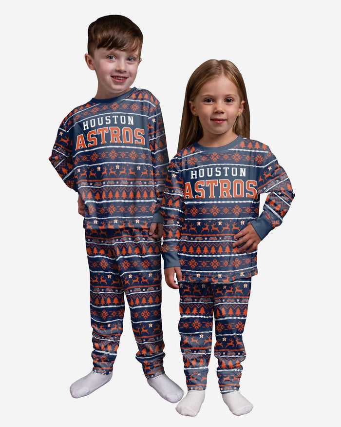 Houston Astros Toddler Family Holiday Pajamas FOCO 2T - FOCO.com