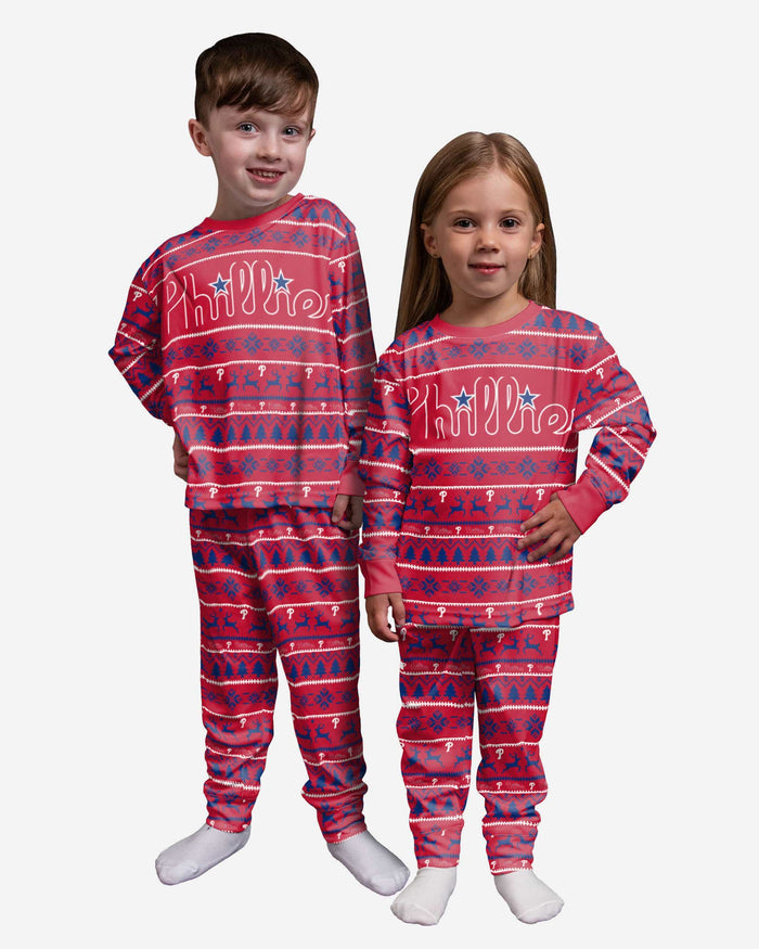 Philadelphia Phillies Toddler Family Holiday Pajamas FOCO 2T - FOCO.com
