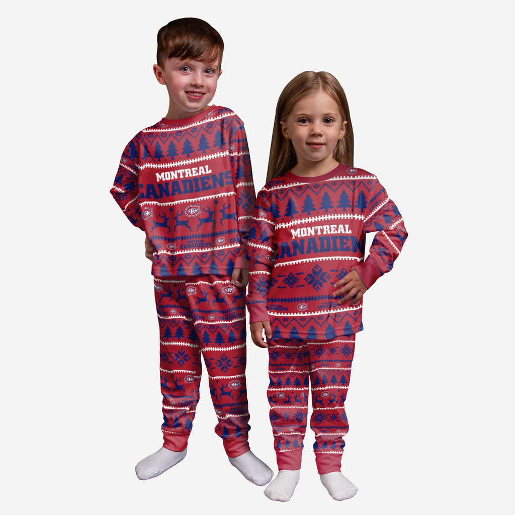 Montreal Canadiens Toddler Family Holiday Pajamas FOCO 2T - FOCO.com