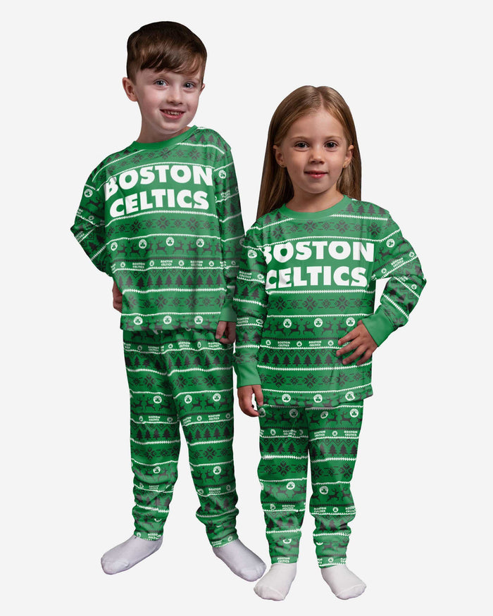 Boston Celtics Toddler Family Holiday Pajamas FOCO 2T - FOCO.com