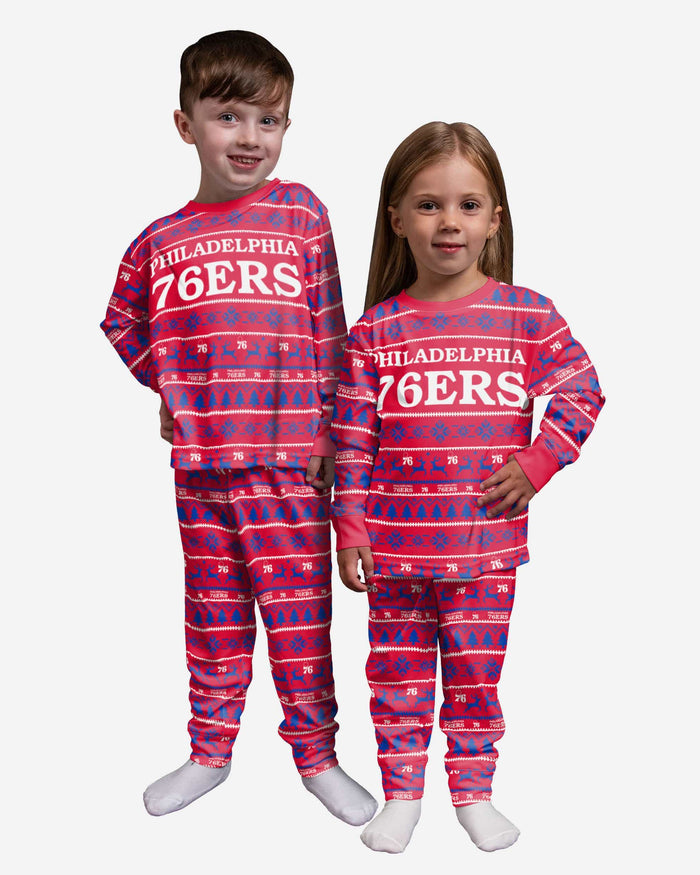 Philadelphia 76ers Toddler Family Holiday Pajamas FOCO 2T - FOCO.com